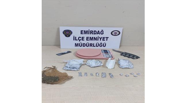 Afyon'da uyuşturucu operasyonunda 4 şüpheli yakalandı