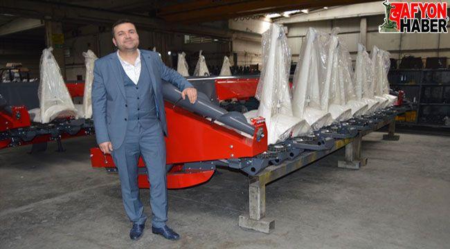 Afyon'dan o firma 15 ülkeye tarım makinesi ihraç ediyor