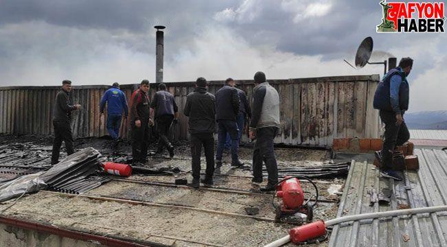 Afyon sanayi sitesinde yangın çıktı