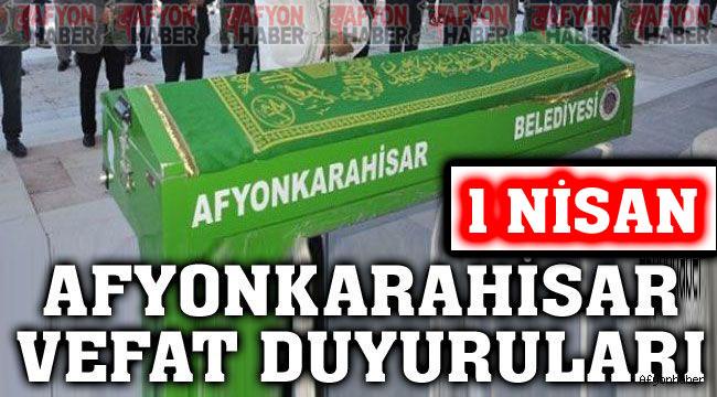Afyonkarahisar vefat ve cenaze duyuruları