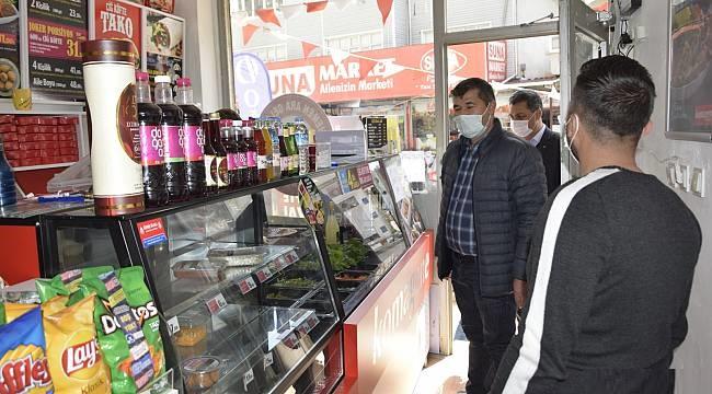 Çay Belediye Başkanı Hüseyin Atlı'dan esnafa Ramazan ziyaretleri