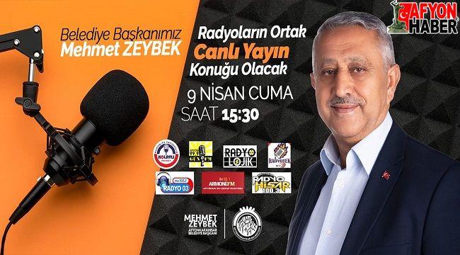 Başkan Mehmet Zeybek, 15.30'da yerel radyoların ortak yayınında olacak