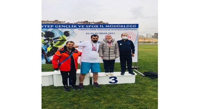 Gaziantep Atletizm Şampiyonası'nda Afyon'a 3 madalya
