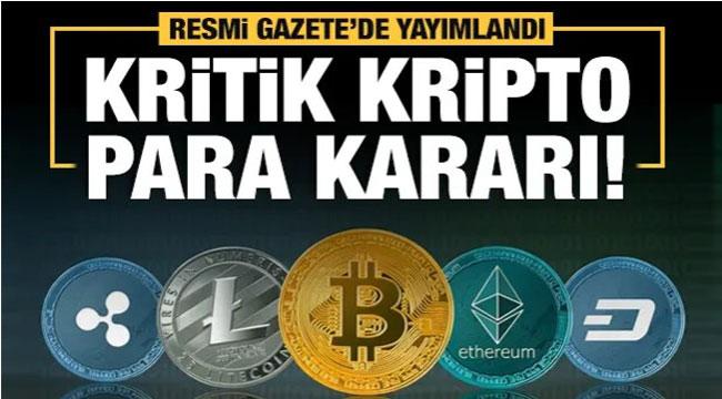 Kripto paraya ilk yasak!..
