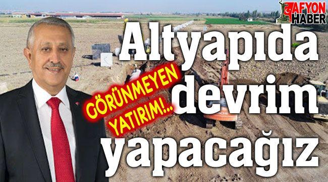 Mehmet Zeybek: Altyapıda devrim yapacağız