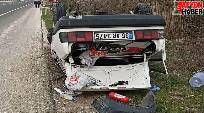Otomobil devrildi, aynı aileden 4 kişi yaralandı