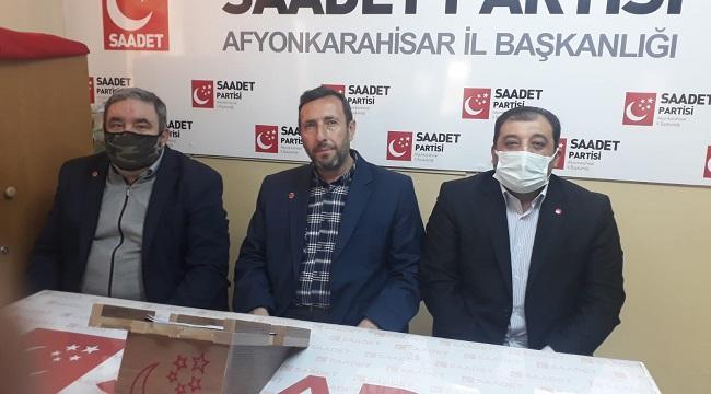 Saadet Partisinden yerel gündeme dair flaş açıklamalar