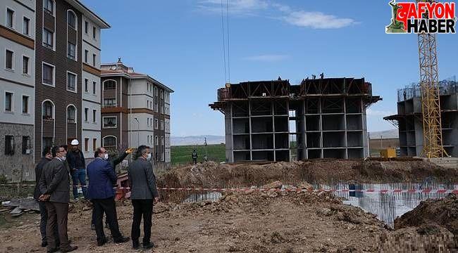 Sandıklı'da 4. Etap TOKİ Konutları inşaatı devam ediyor