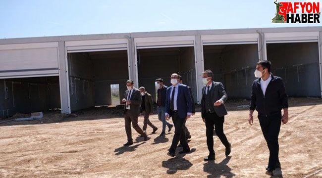 Sandıklı'da yeni hal binası inşaatı devam ediyor