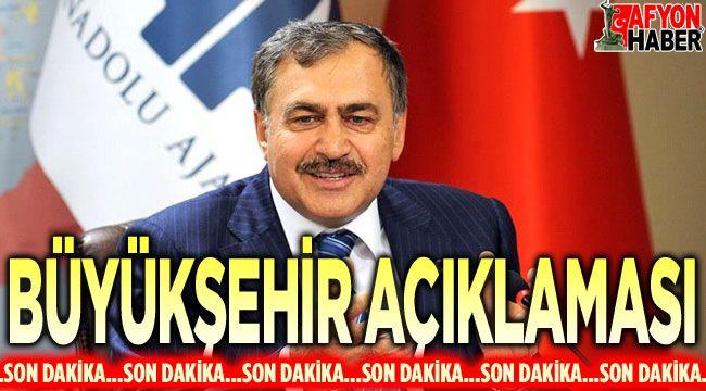 """Veysel Eroğlu'ndan """"Büyükşehir"""" açıklaması!.."""