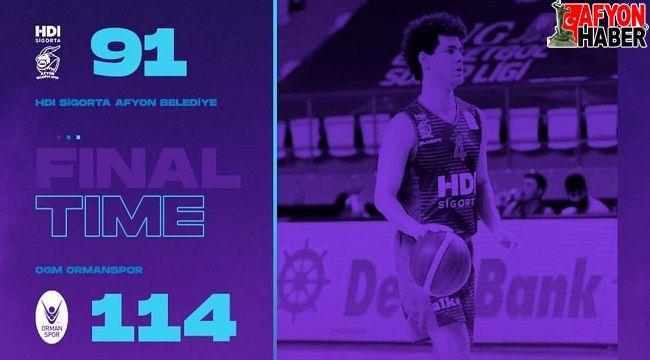 Zor günler... Afyon Basket, Ormanspor'a farklı yenildi: 91-114