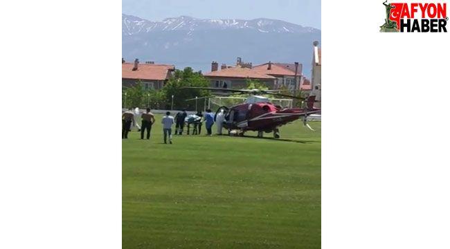 91 yaşındaki koronavirüs hastası için helikopter havalandı