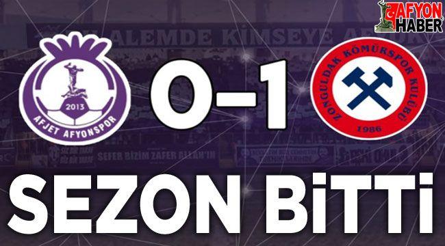 Afjet Afyonspor, Zonguldak Kömürspor'a 0-1 yenildi, sezonu kapattı