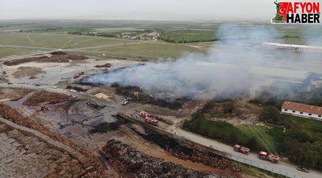 Afyon'da yanan 80 bin metrekarelik alan havadan görüntülendi