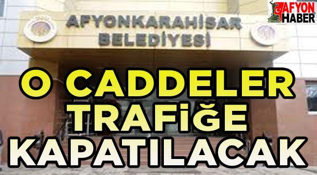 Afyonkarahisar Belediyesinden Afyonkarahisar halkına duyuru...