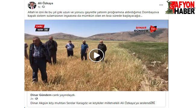 Akgün Köyü Muhtarı: Özkaya her sorunumuzda yanımızda oldu