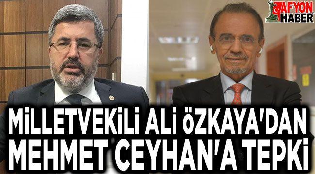 Ali Özkaya'dan Mehmet Ceyhan'a tepki