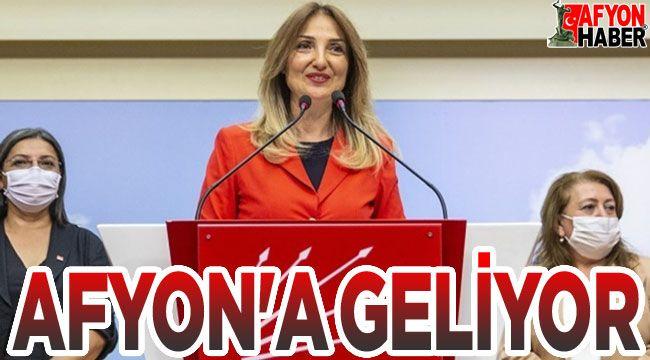 Aylin Nazlıaka, Afyon'a geliyor!..