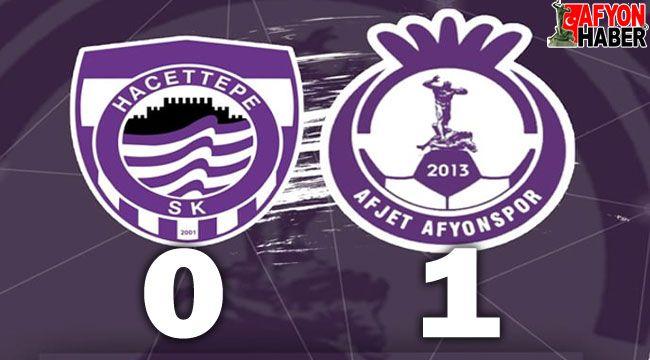 Hacettepespor:0 - Afjet Afyonspor:1 Maç Sonucu