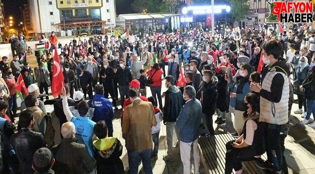 TERÖR DEVLETİ İSRAİL, AFYONKARAHİSAR'DA PROTESTO EDİLDİ