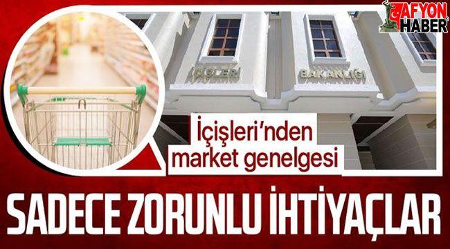 Marketlerde sadece zorunlu temel ihtiyaçlar satılabilecek!..