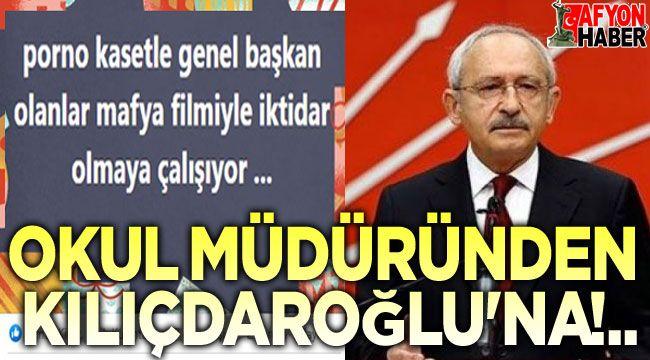 Okul Müdüründen Kılıçdaroğlu'na sert tepki!..