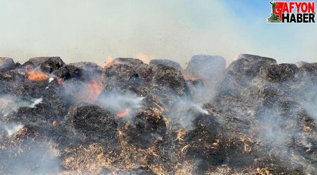 Sultandağı'ndaki fabrika yangınına 20 itfaiye aracı müdahale ediyor