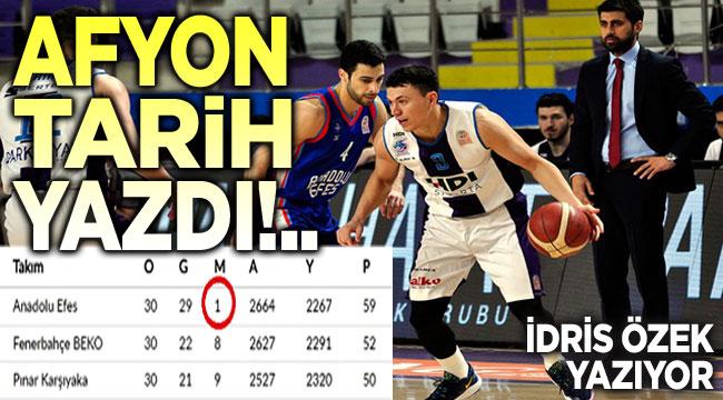 Afyon, baskette adını tarihe yazdırdı!..