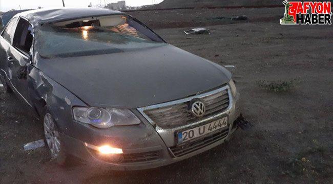 Afyon'da otomobil şarampole devrildi: 1 ölü, 1 yaralı