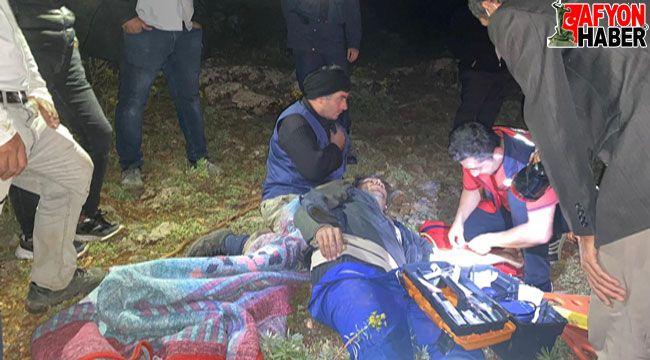 Ayağı kırılan çobana ulaşılamayınca devreye kurtarma ekipleri girdi