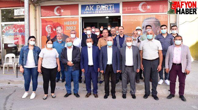 Başkan Zeybek ilçe ziyaretlerinde bulundu