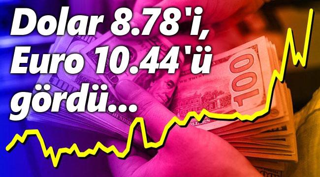 Dolar 8.78'i, Euro 10.44'ü gördü