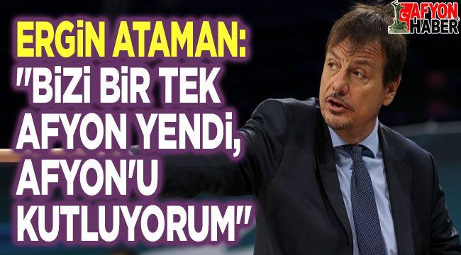 Ergin Ataman, Afyon'u özel olarak kutladı!..
