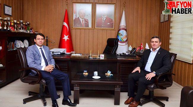 Mustafa Çelenk, Başkan Altuntaş'a veda ziyaretinde bulundu