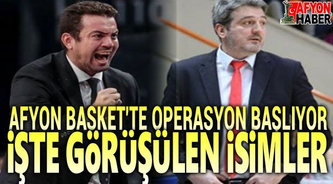 Afyon Belediyespor baskette hareket başlıyor!..