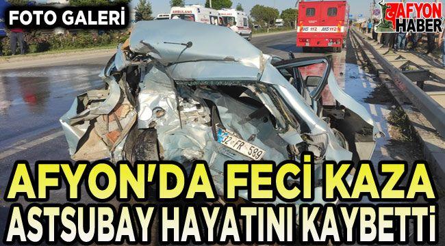 Afyon'da feci kaza!.. 6 aracın karıştığı zincirleme kazada astsubay öldü