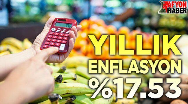 Yıllık enflasyon Yüzde 17.53 olarak açıklandı