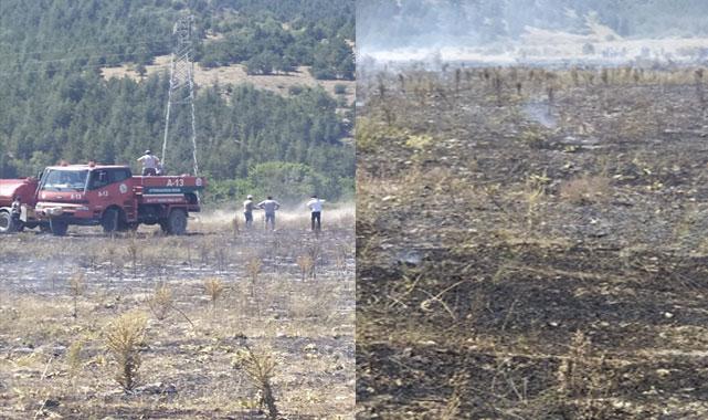 Afyon'da çıkan kuru ot yangını söndürüldü