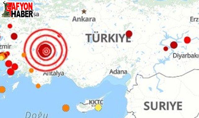 Afyon'da üç saatte 8 deprem oldu!..