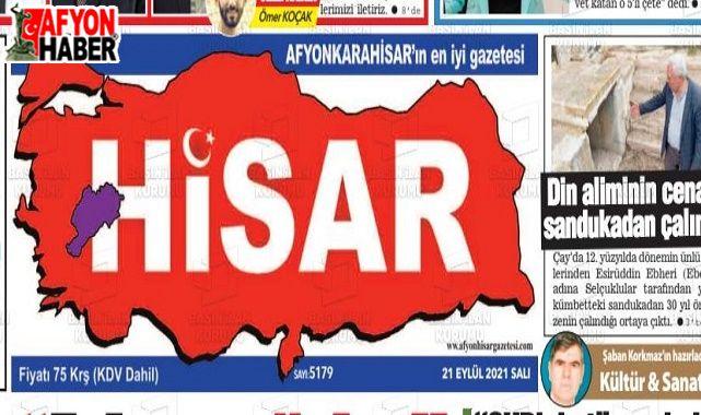 Afyon Hisar Gazetesi 18 yaşında!..