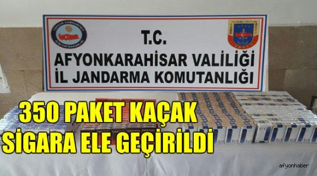 350 PAKET KAÇAK SİGARA ELE GEÇİRİLDİ
