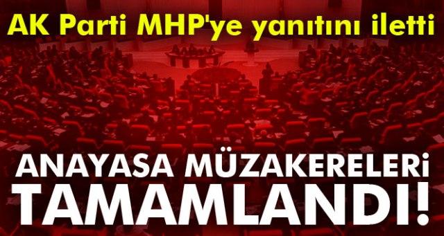 AK PARTİ MHP'YE YANITINI YAZILI İLETTİ