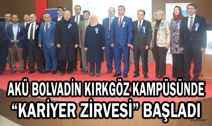 """AKÜ BOLVADİN KIKRGÖZ KAMPÜSÜNDE """"KARİYER ZİRVESİ"""" BAŞLADI"""