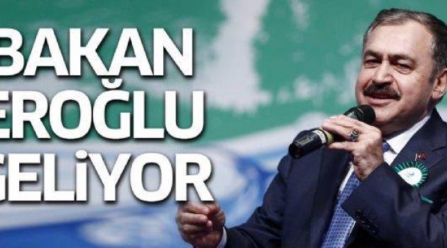 BAKAN EROĞLU, YARIN MEMLEKETİ AFYONKARAHİSAR'A GELİYOR