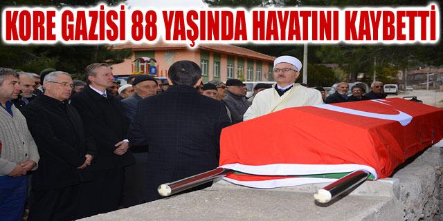 KORE GAZİSİ 88 YAŞINDA HAYATINI KAYBETTİ