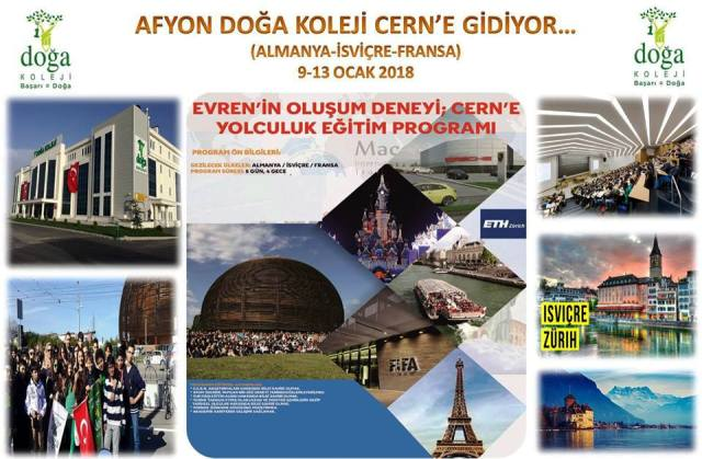AFYON – KÜTAHYA DOĞA KOLEJİ CERN'E GİDİYOR…