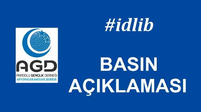 AGD ''İDLİB'' BASIN AÇIKLAMASI