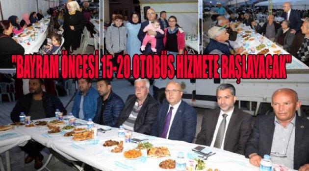 """BURHANETTİN ÇOBAN """"BAYRAM ÖNCESİ 15-20 OTOBÜS HİZMETE BAŞLAYACAK"""""""