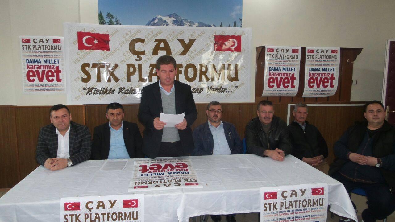 """ÇAY SİVİL TOPLUM KURUMLARI """"EVET"""" DEDİ"""