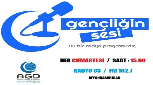 GENÇLİĞİN SESİ RADYO PROGRAMI BU CUMARTESİ 15.00'TE BAŞLIYOR